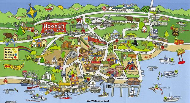 Map of Hoonah Alaska