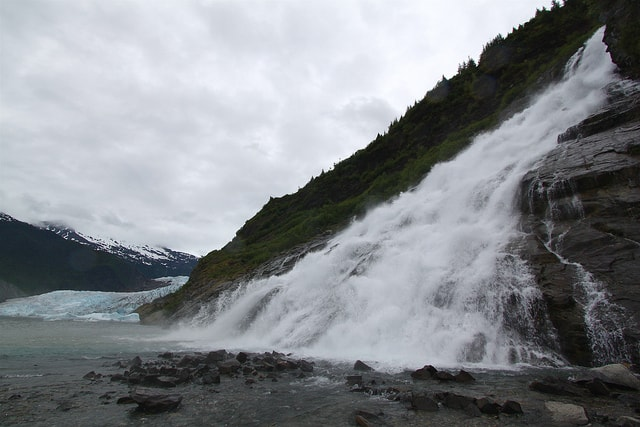 Nugget Falls and Mendenhall Glacier Photo