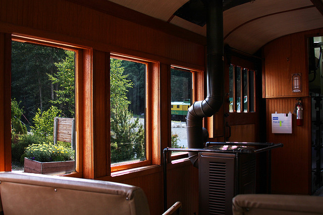 inside white pass train