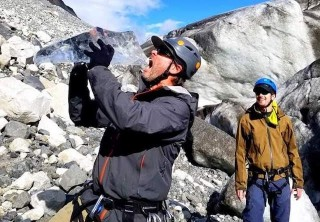 Photo of Eating Glacier ice on exit glacier