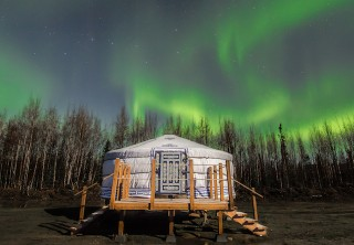 Photo of Fairbanks Chena Hot Springs Aurora Tour private aurora viewing yurt