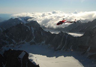 Photo of Flightseeing High Above Mountain Peaks