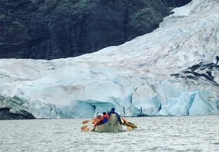 Photo of Juneau Mendenhall Lake Canoe Adventure Tour