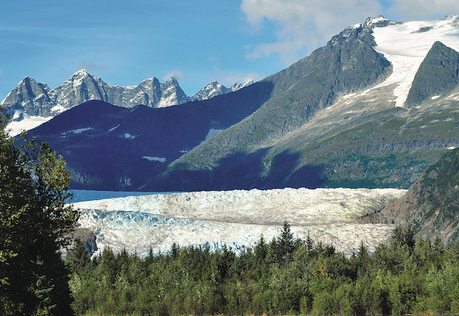 Photo of Mendenhall Glacier Towers on River Float