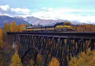 Photo of Train Bridge Alaska Railroad