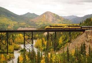 Photo of Train Bridge River Alaska Railroad