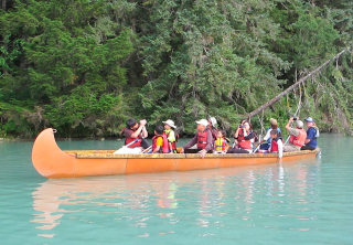 Photo of haines chilkoot canoe wildlife safari turqoise blue lake