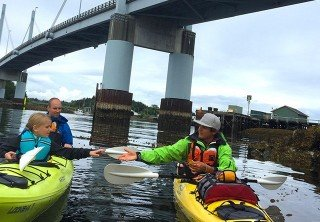 Photo of harbor and islands guided paddle tour