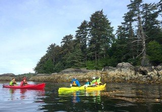 Photo of island paddle and lost fort trek tour