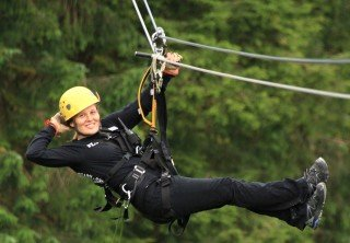 Photo of woman on zipline tour