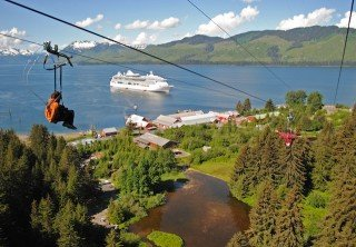 Photo of zipline into icy strait