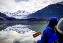 Photo of Juneau Mendenhall Lake Canoe Adventure Tour Panoramic Views while Canoeing