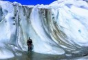 Photo of Man standing on Exit Glacier