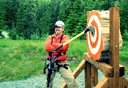 Photo of axe throwing in juneau