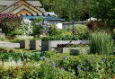 Photo of extensive gardens in skagway