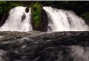 Photo of gold creek waterfall at salmon bake