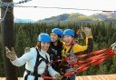 Photo of having a blast while ziplining