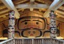 Photo of inside clan house at potlatch park