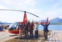 Photo of ketchikan helicopter tour with happy guests