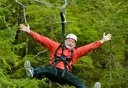 Photo of man on zipline