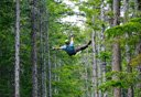 Photo of man ziplining in skagway