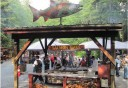 Photo of salmon bake at gold creek in juneau