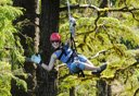 Photo of woman on ketchikan zipline