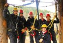 Photo of zipline crew