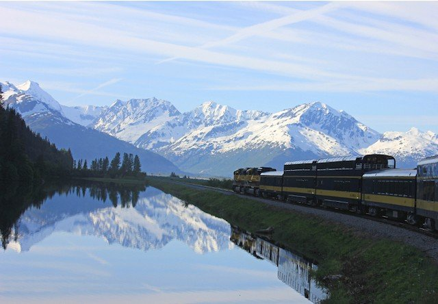 Photo of Train Water Mountain Alaska Railroad