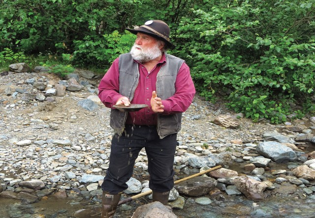 Photo of gold panning demonstration