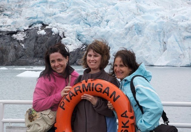 Photo of passengers on the glacier cruise