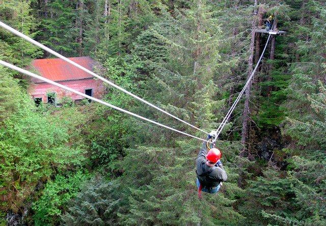 Photo of rainforest canopy zipline tour & Ketchikan Rainforest Canopy Zipline | Alaska Shore Excursions