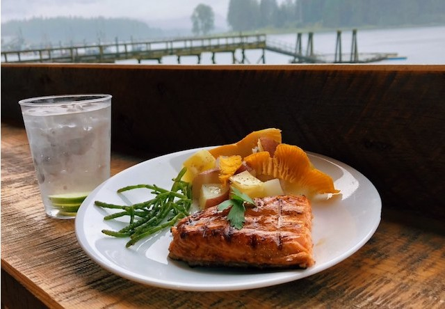Photo of salmon meal at hoonah beach house