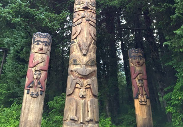 Sitka Totem Poles at Sitka National Historic Park